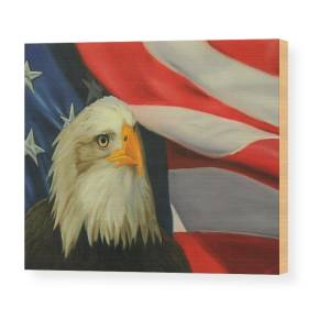 Gbamerica Wood Print By Alex Rios