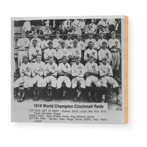 c96ffbafc8aa 1919 World Champion Cincinnati Reds Wood Print by Mountain Dreams