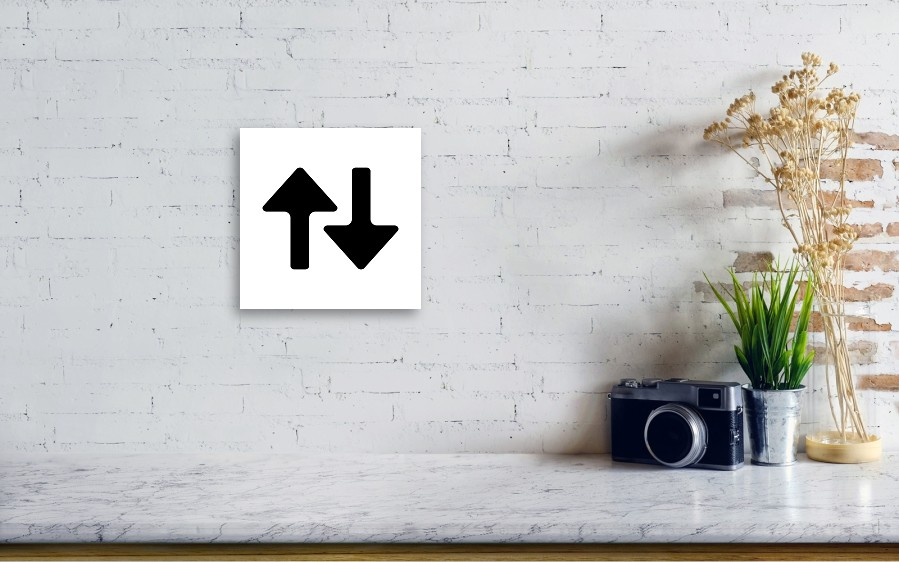 Arrows / Up Down / Comparison Icon Acrylic Print