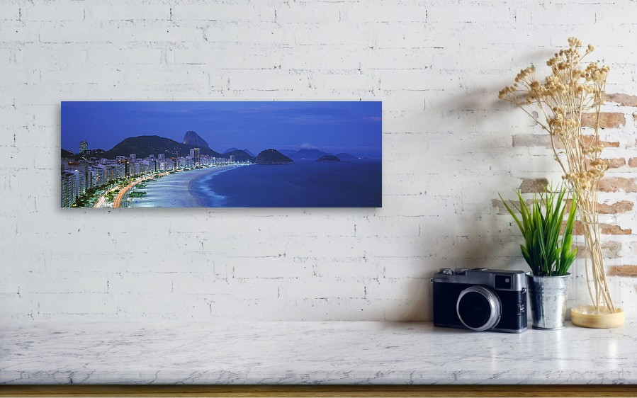 Beach, Copacabana, Rio De Janeiro Acrylic Print by Panoramic Images