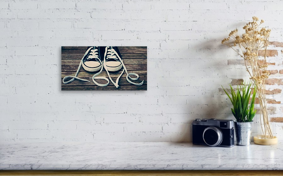 eb671ecadfd4c Horizontal Acrylic Print featuring the photograph Shoes With Laces by  VPhotography. Wall View 001