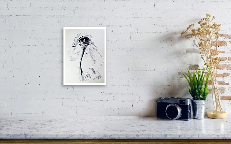 Michael Jackson Smooth Criminal In Tii Acrylic Print by Hitomi Osanai