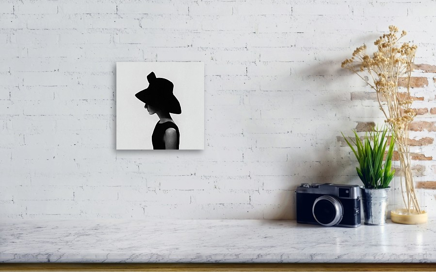 c575e3364d671 Accessories Canvas Print featuring the photograph Audrey Hepburn Wearing A Givenchy  Hat by Cecil Beaton. Wall View 001
