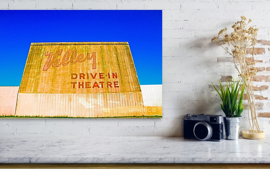 Vintage California Drive-in Theatre Canvas Print / Canvas Art by Mel ...