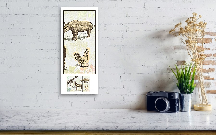 Forest Animals Group 3 Suitable For Hanging Frames Canvas Print ...