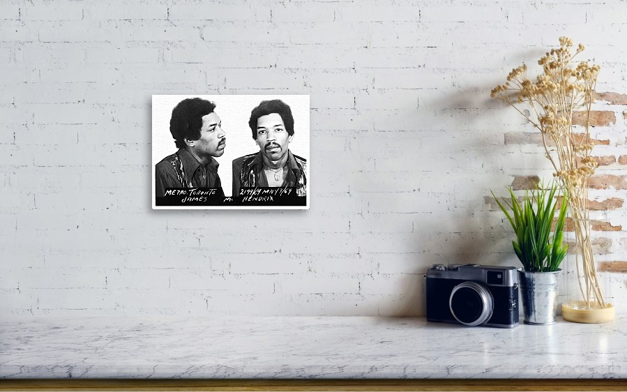 Jimi Hendrix Mugshot Canvas Print / Canvas Art by Bill Cannon