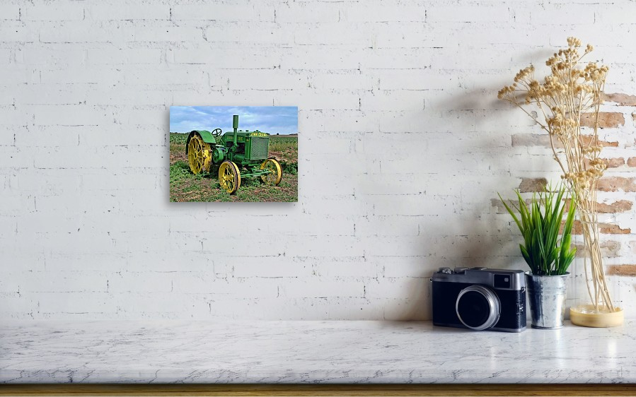 John Deere Tractor Hdr Canvas Print / Canvas Art by Ken Smith