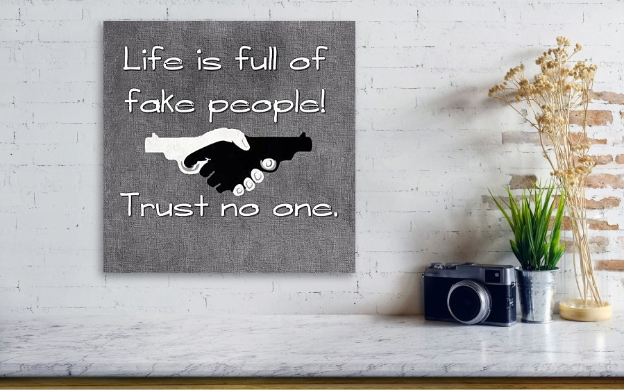 Life Full Fake People Trust No Canvas Print Canvas Art By The