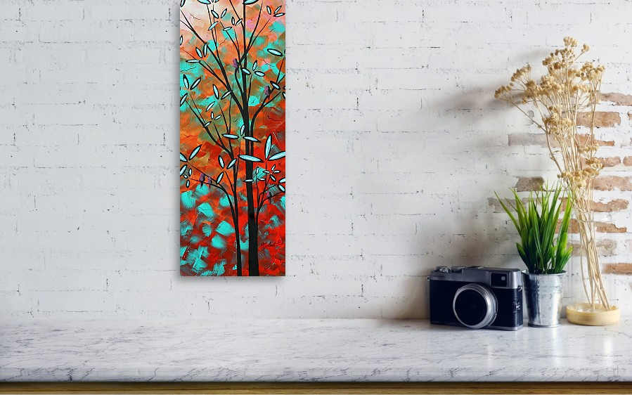 e9ca57cecdac09 Art Canvas Print featuring the painting Lilly Pulitzer Inspired Abstract  Art Colorful Original Painting Spring Blossoms. Wall View 001