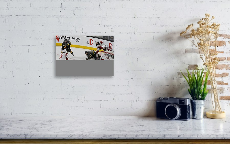 Vegas Golden Knights Canvas Print featuring the photograph Nhl  Mar 14  Devils At Golden Knights. Wall View 001 c9ad71eb8