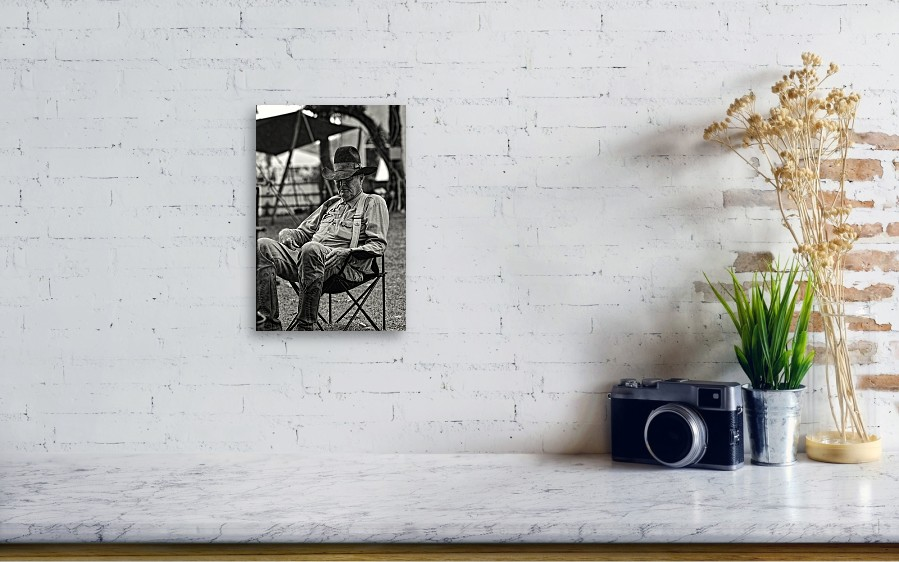 1a4fc5a18c693 ... Canvas Print featuring the photograph Cowboy And The Ten Gallon Hat by  Jonathan. Wall View 001