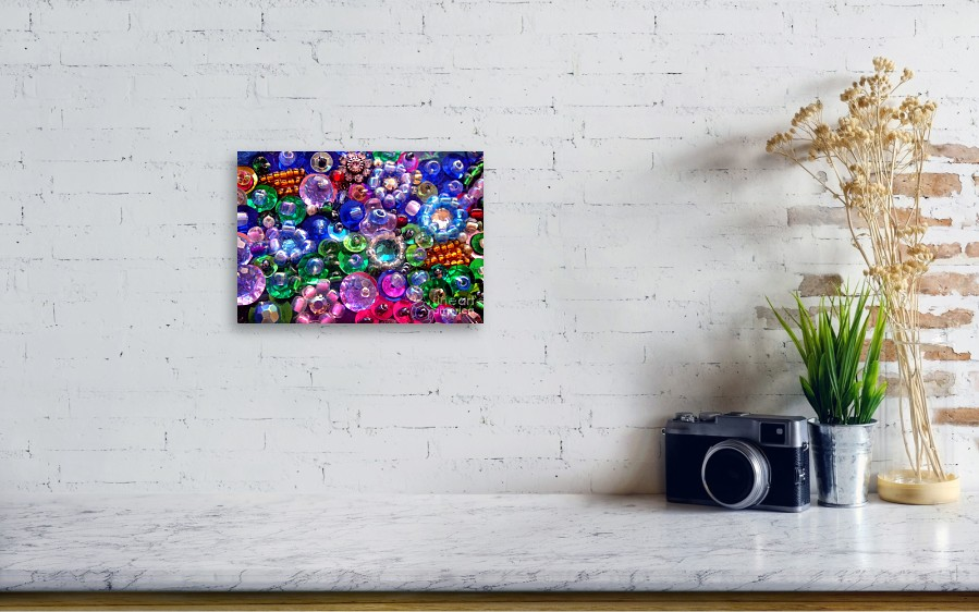 Abstract Beadwork, Sequin Bead Embroidery. Flowers Canvas Print ...