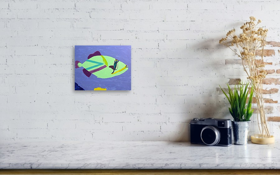 Big fish in a small pond canvas print canvas art by for Big fish printing
