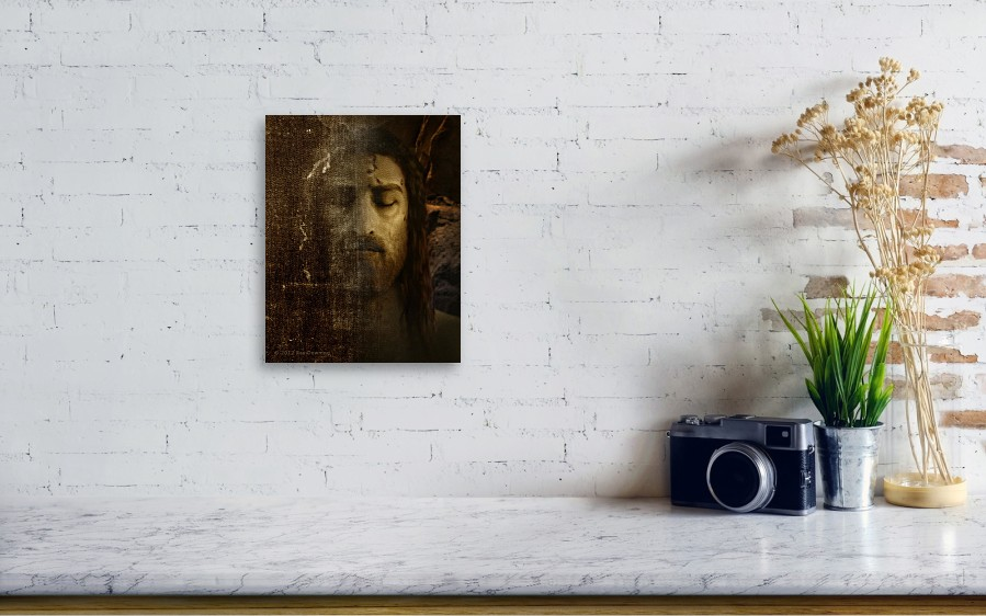 Jesus And Shroud Canvas Print / Canvas Art by Ray Downing