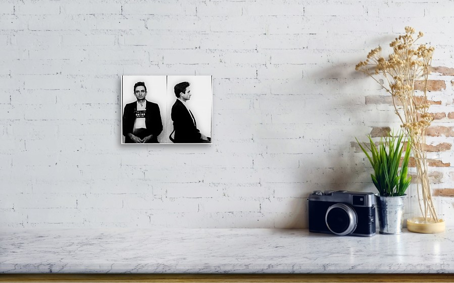 Johnny Cash Mug Shot Horizontal Canvas Print / Canvas Art by Tony Rubino