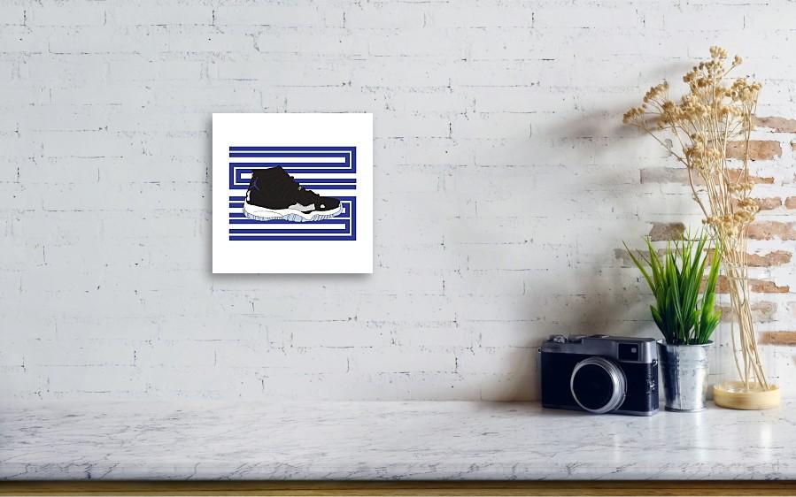 0d91937a615e ... Canvas Print featuring the digital art Jordan 11 Space Jam by Letmedraw.  Wall View 001