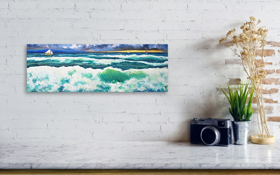 6f29ad87a74 Long Thin Wave Canvas Print   Canvas Art by Anne Marie Brown