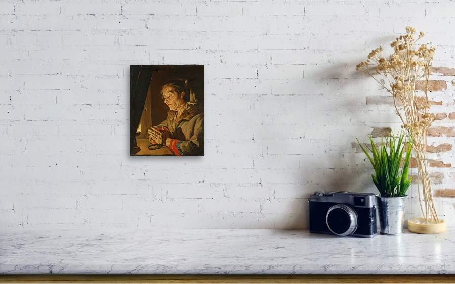 Old Woman Praying Canvas Print Canvas Art By Matthias Stom