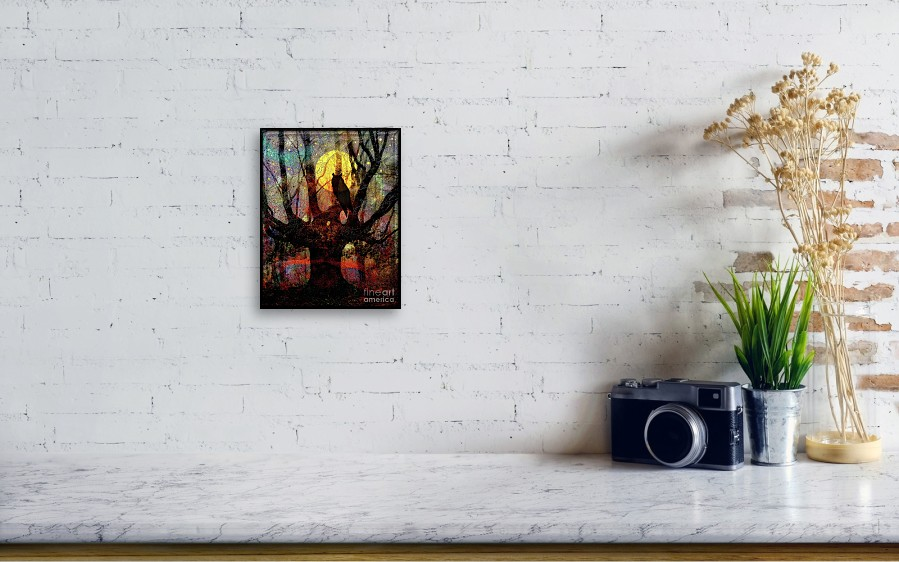 Owl And Willow Tree Canvas Print Canvas Art By Mimulux Patricia No