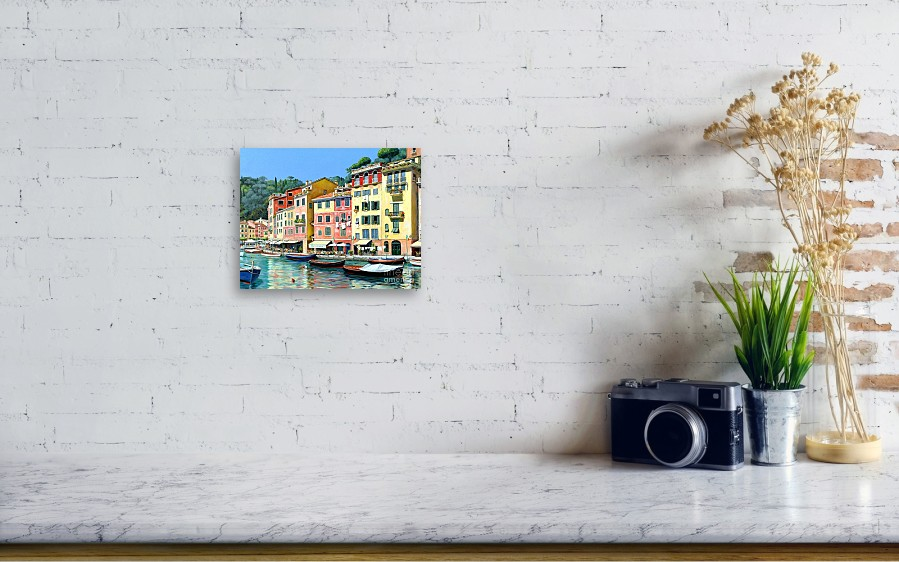 portofino sunshine 30 x 40 canvas print canvas art by michael swanson