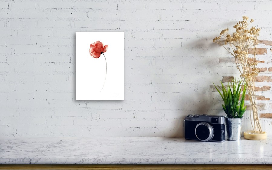 Unique Poppy Wall Decor Mothers Day Abstract Flower Giclee Fine Art