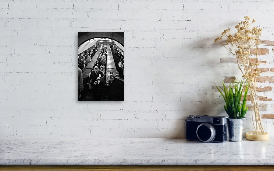 22476bef96f Crowd Canvas Print featuring the photograph London Underground by Werner  Rings. Wall View 001