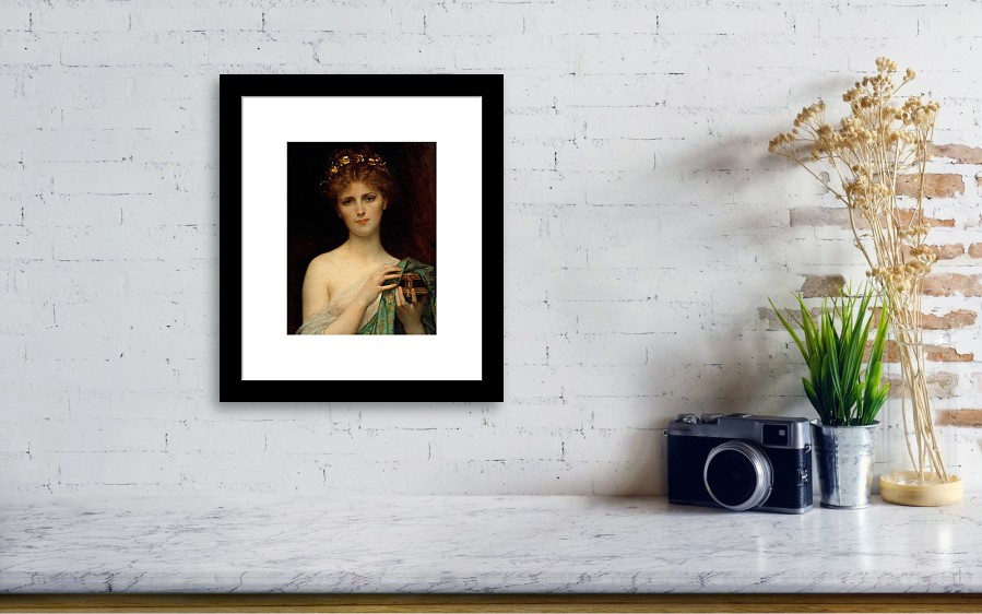 37b5958fd368 Pandora Framed Print featuring the painting Pandora by Alexandre Cabanel.  Wall View 001