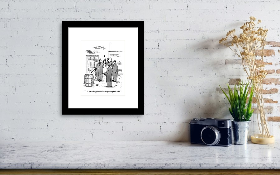 A Group Of Gangsters Stand With Machine Guns Framed Print