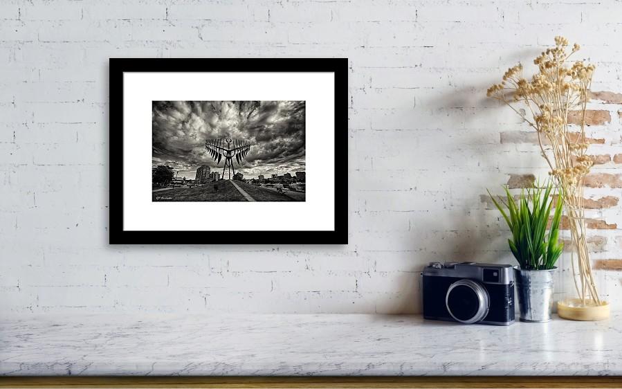 Barrie Dreamcatcher Framed Print by EJ Ouellette