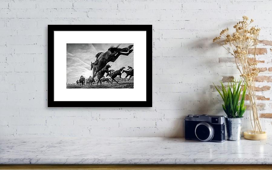 Cheltenham Jumps Festival Framed Print by Sharon Lee Chapman
