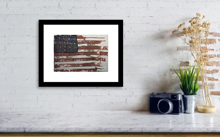 Hulbert Flag Early Us Flag 1776 Framed Print by Photo Researchers