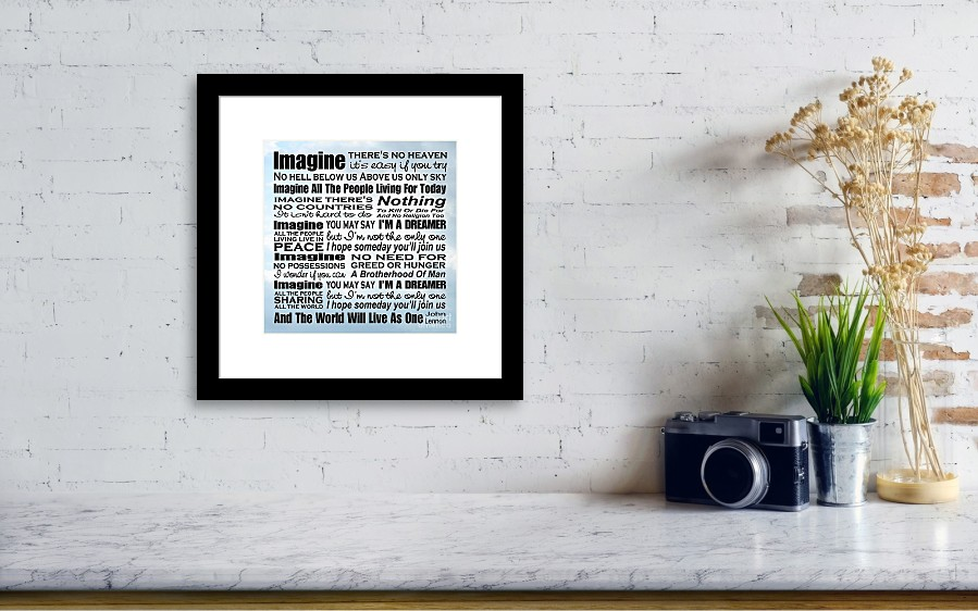 Tolle Song Lyric Picture Frame Ideen - Rahmen Ideen ...