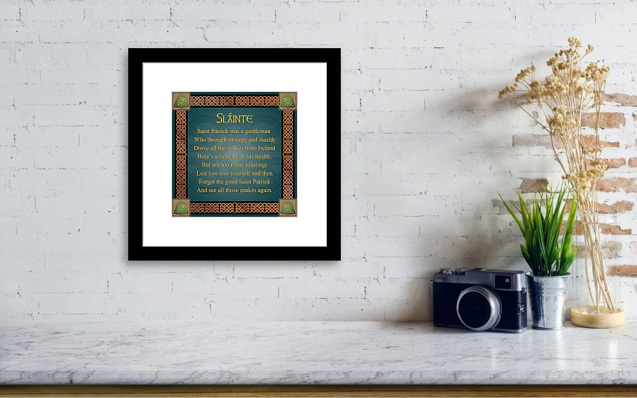 Irish toast slainte framed print by ireland calling wall view 001 m4hsunfo