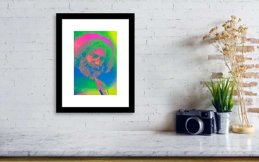 Jerry Garcia Tie Dye Framed Print By Dan Sproul