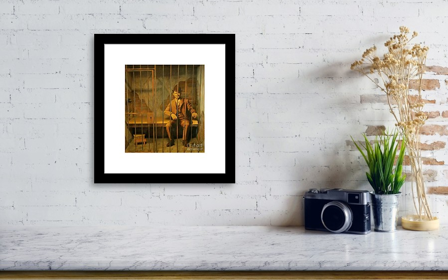 Old Western Jail Framed Print by John Malone