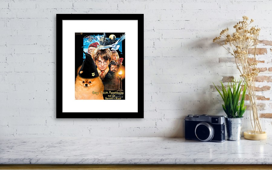 Pomeranian Art Canvas Print - Harry Potter Movie Poster Framed Print ...