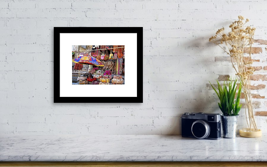7ea025abf7b7 Shopping Framed Print featuring the photograph Shopping Colorful Bags Sale  Jaipur Rajasthan India by Sue Jacobi. Wall View 001