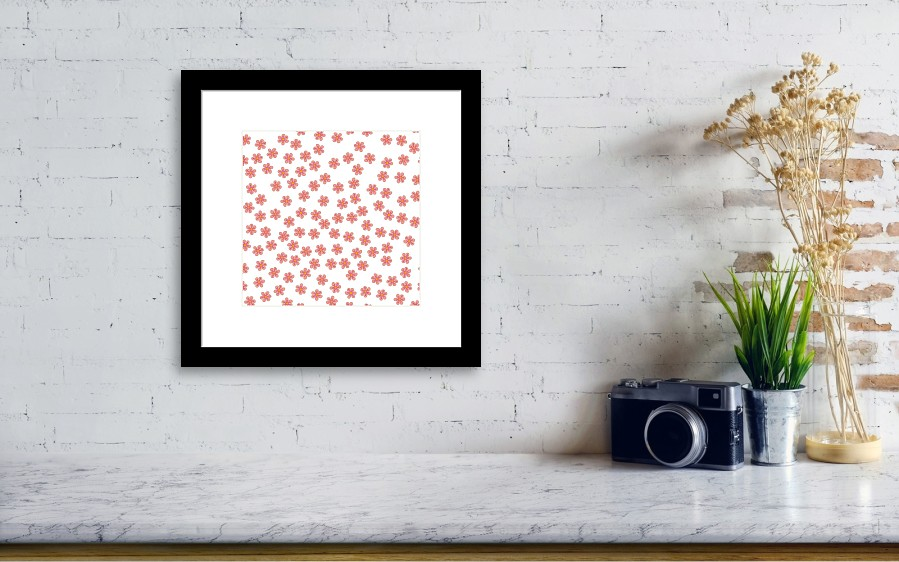 Small Colored Flowers On A White Background For Prints Postcards