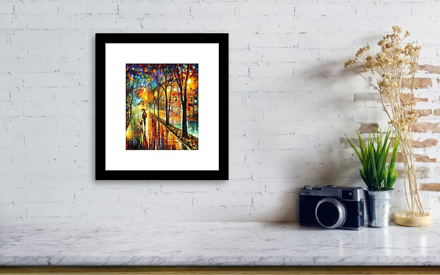 Stroll With My Best Friend - Palette Knife Oil Painting On Canvas By ...