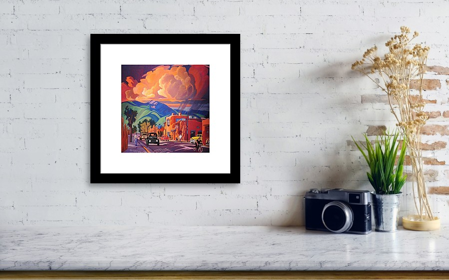 Taos inn monsoon framed print by art james west wall view 001 solutioingenieria