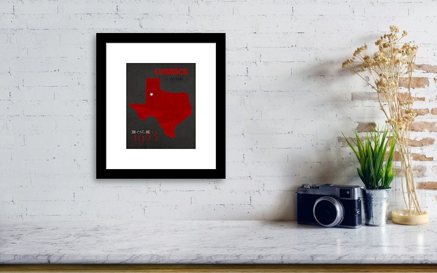 Texas Tech University Red Raiders Lubbock College Town State Map ...