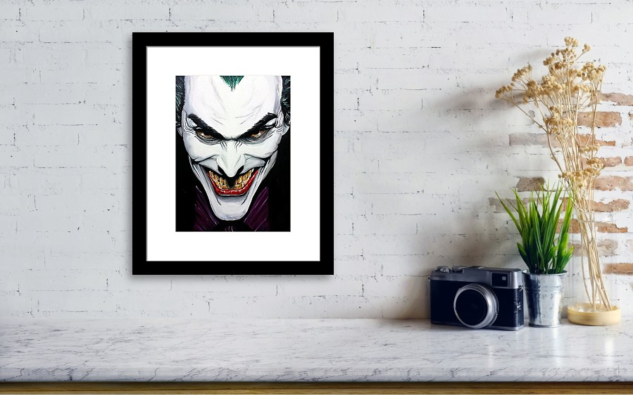 cb9389ad The Joker ..a Tribute To Alex Ross Framed Print by S G Williams