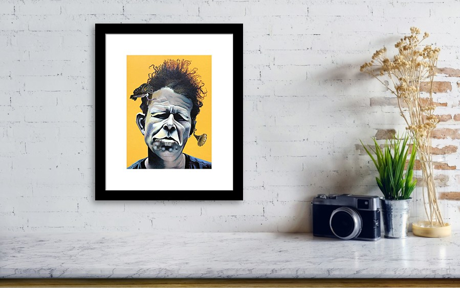 Tom Waits - He\'s Big In Japan Framed Print by Kelly Jade King