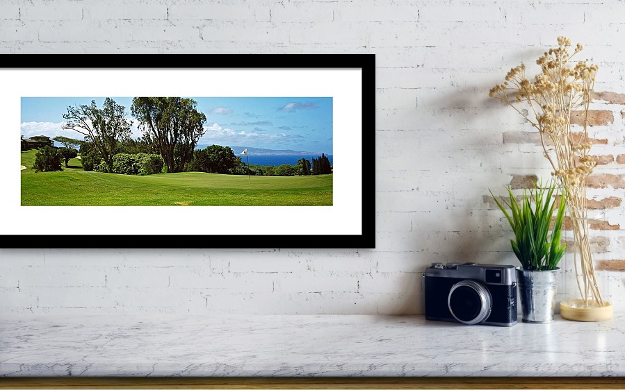 Trees On A Golf Course, Kapalua Golf Framed Print by Panoramic Images