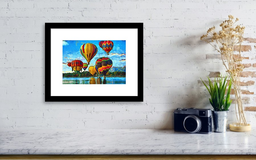Colorado Springs Hot Air Balloons Framed Print by Nikki Marie Smith