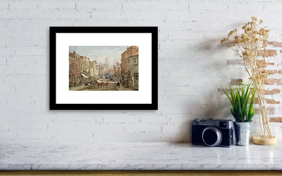 The Household Cavalry In Peascod Street Windsor Framed Print by ...