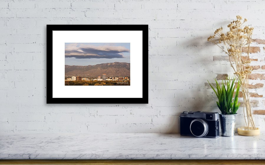 Albuquerque Skyline With The Sandia Mountains In The Background ...