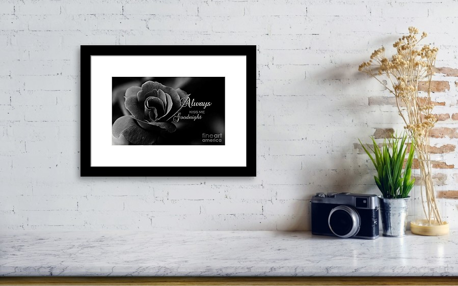 Always Kiss Me Goodnight Framed Print by Andrea Anderegg