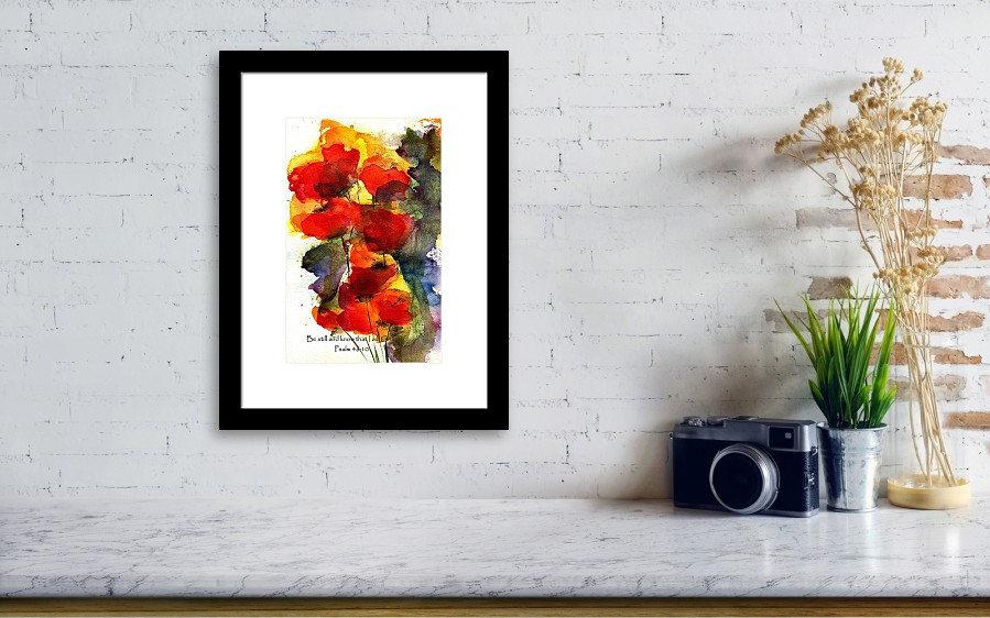 Be Still And Know That I Am God Framed Print By Anne Duke