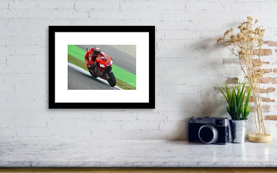Casey Stoner Framed Print by Henk Meijer Photography